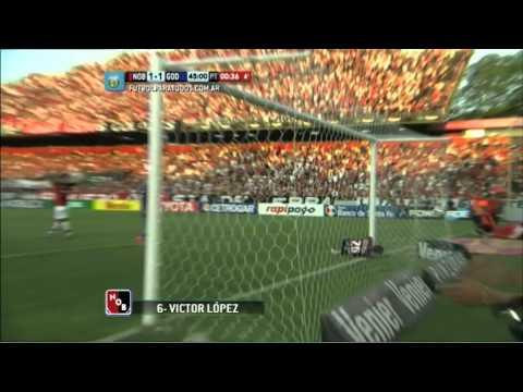 Gol de López. Newell's 1 – Godoy Cruz 1. Fecha 13. Torneo Primera División 2014