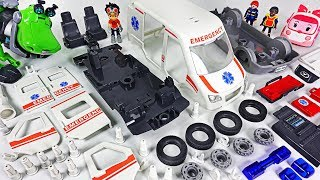 Video Ambulance Car was Damaged! Rusty Rivets! Assemble the broken car with Robocar Poli! #DuDuPopTOY MP3, 3GP, MP4, WEBM, AVI, FLV November 2018