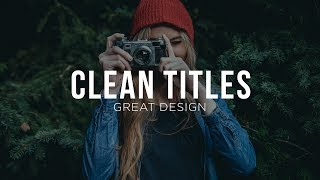 Let's design clean titles for Motion Graphics and video! In this After Effects Tutorial, we're going to create simple title design like main titles and subtitles. We will talk about alignment, typeface choice, positioning, and contrast. Music From PremiumBeat:https://www.premiumbeat.com/Social Media:Drop a like on Facebook: https://www.facebook.com/sonduckfilmHit me up on Instagram: http://instagram.com/sonduckfilmFollow me on Twitter: https://twitter.com/SonduckFilmConnect with me on Linkedin: https://www.linkedin.com/in/joshnoelSupport us on Patreon: https://www.patreon.com/sonduckfilmSuggested After Effects Tutorials:Animated Icons: https://youtu.be/OZFuYj_ohWwWord Morph: https://youtu.be/Nc2w1Kt3XjETypography Titles: https://youtu.be/eruPaWT0aNs3D Light Text Stroke Effect: https://youtu.be/r4hYFOcRwoYIllustrator to After Effects Vectos: https://youtu.be/YGBRpCOtjNMClean Lower Thirds: https://youtu.be/aEt2yxs17IU