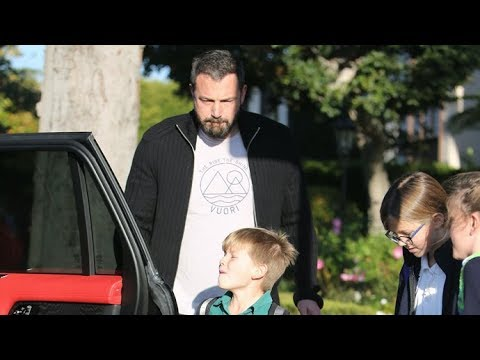 Ben Affleck Looking Happy To Be On Daddy Duty