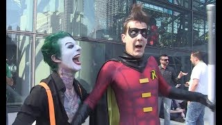 THE JOKER vs NEW YORK COMIC CON 2017! With Harley Quinn, Batman and More!