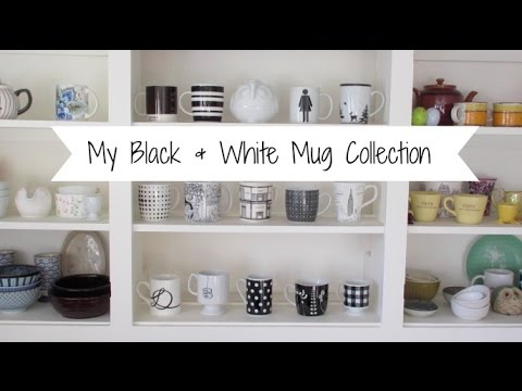 My Black and White Mug Collection | VEDA Day 14