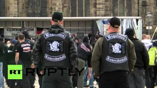 Magdeburg Germany  city images : Germany: Nationalist protesters march against refugees in Magdeburg