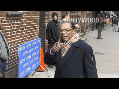 John Witherspoon Arrives at Ed Sullivan Theater