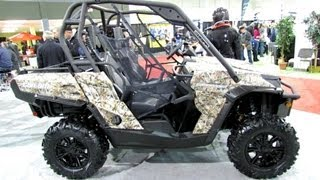 10. 2013 Can-am Commander XT 1000 Camo - Side by Side ATV - 2012 Salon National du Quad
