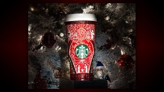 Drawing on my Starbucks Red Cup - Christmas Edition