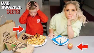 Video I swapped DIETS with a 7 year old for 24hours!! MP3, 3GP, MP4, WEBM, AVI, FLV Maret 2019