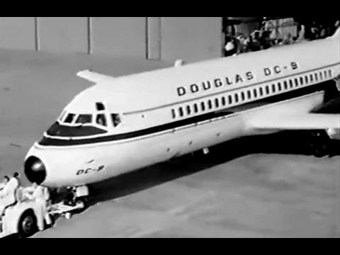 dc9 - Brief, but cool & rare footage of the very first 'Baby Nine