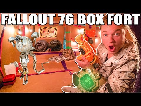 FALLOUT 76 BOX FORT VAULT PART 1  24 Hour Challenge