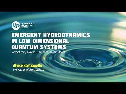 Hydrodynamic exploration of parameter-space in integrable models - Alvise Bastianello