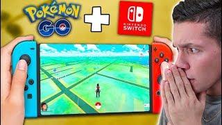 PLAYING POKÉMON GO ON THE NINTENDO SWITCH? Pokémon Let's GO Pikachu/Eevee!