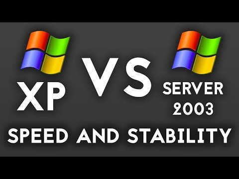 Windows XP vs Windows Server 2003 : Speed Test and Stability Testing