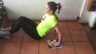 Crunch con flexión y extensión de codos