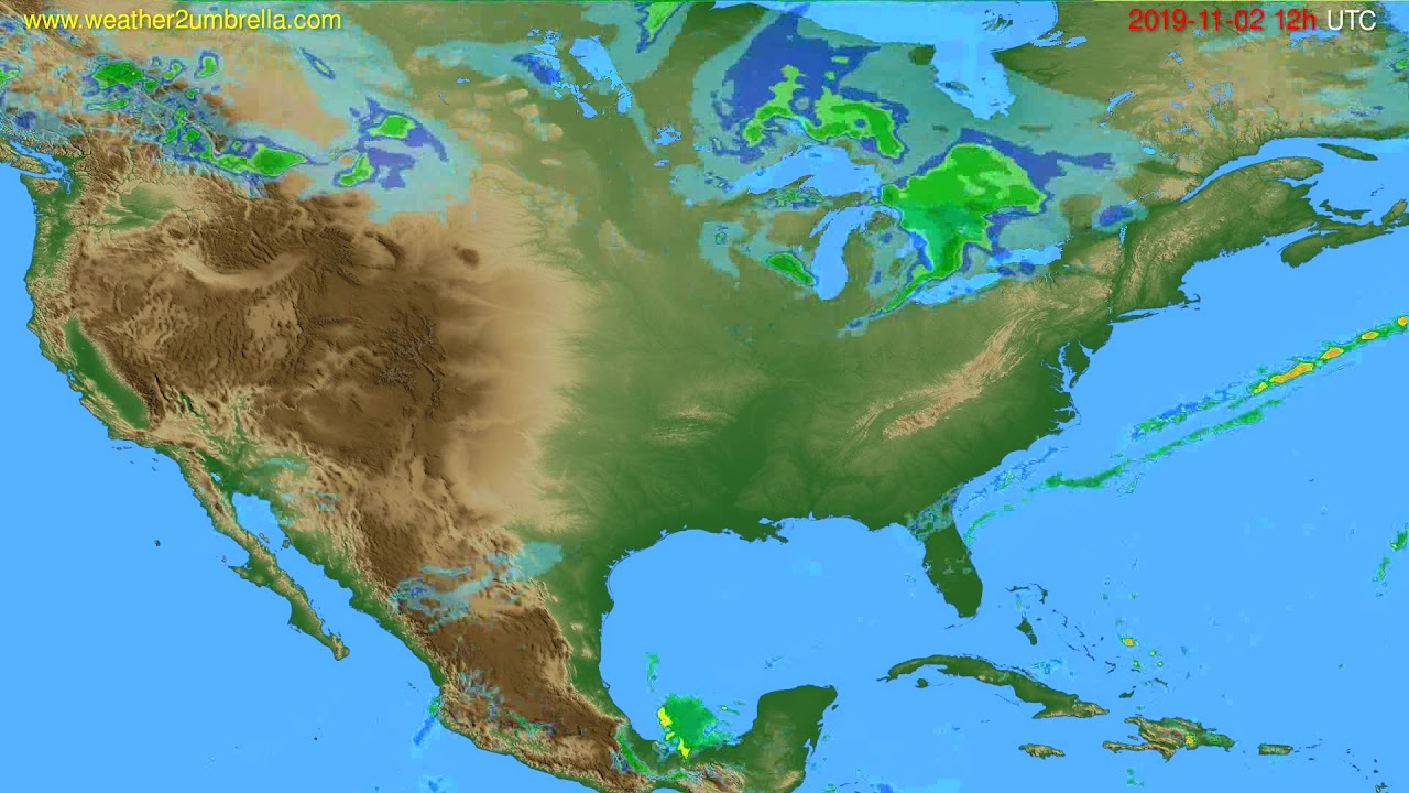 Radar forecast USA & Canada // modelrun: 00h UTC 2019-11-02