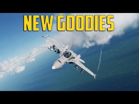 DCS F/A-18 - New Goodies (видео)