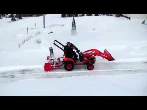 Kubota BX Snow blowing (long)