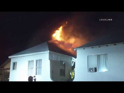 House Fire / Boyle Heights   RAW FOOTAGE