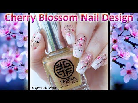 Nail designs - Spring nail design, cherry blossom / Весенний дизайн, сакура