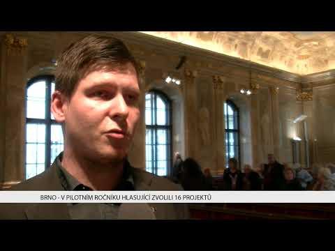 TV Brno 1: 29.11.2017 V pilotním ročníku hlasující zvolili 16 projektů