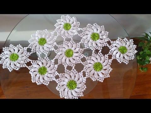 Caminos mesa ganchillo graficos videos videos - Camino de mesa elegante en crochet ...