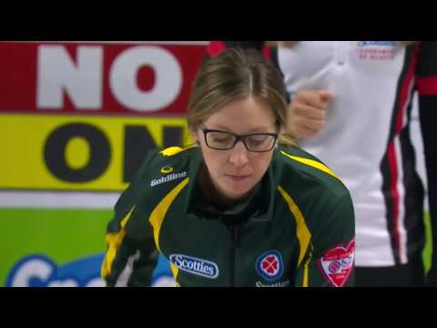 2017 Scotties Tournament of Hearts - McCarville (NO) vs. Homan (ON) - Draw 12 (видео)