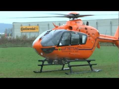 Korbach: Rentner baut Unfall - Hubschrauber