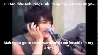 I loved this clip so much! I subbed it so that everyone can sing along to the Karaoke Version of hug lol! OMG loved Jaejoong in this and Tablo of course. In case you didn't get who was singing what:JJ: JaejoongJS: JunsuYC: YoochunYH: YunhoTL: TabloCH: Changmin (tho he didn't say anything! He just laughed throughout!)
