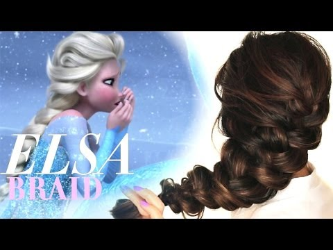 Hair - Disney's Frozen, Elsa hair tutorial. How to do Elsa's voluminous braid hairstyle. Cute,