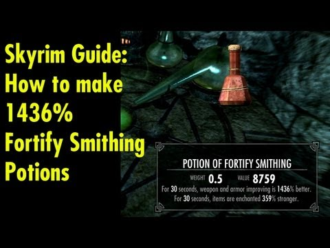 Video How to make +1436% Fortify Smithing Potions - Skyrim Guide download in MP3, 3GP, MP4, WEBM, AVI, FLV January 2017