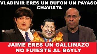 Guerra de Insultos entre Jaime Bayly vs Vladimir Villegas