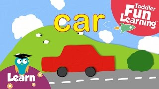 Learn Colours with Cars | Toddler Fun Learning | Pre-school words&colors video
