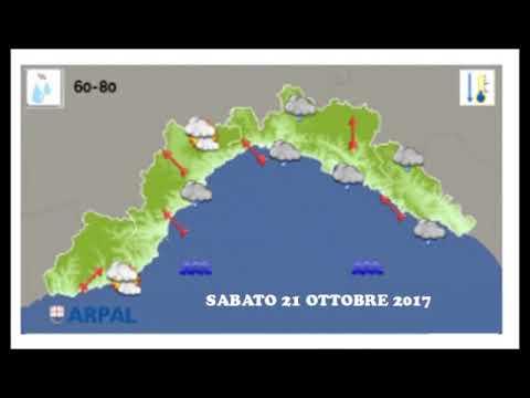 PREVISIONI METEO DI SABATO 21 OTTOBRE 2017
