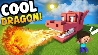 Minecraft Tutorial: How To Make A ENDER DRAGON Survival House (RED DRAGON)