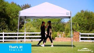 E-Z UP® Ambassador™ Shelter: How-To Set Up