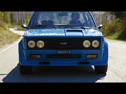 pure sound fiat 131 abarth rally - davide cironi drive experience