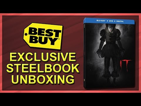 It (2017) Best Buy Exclusive Blu-ray SteelBook Unboxing