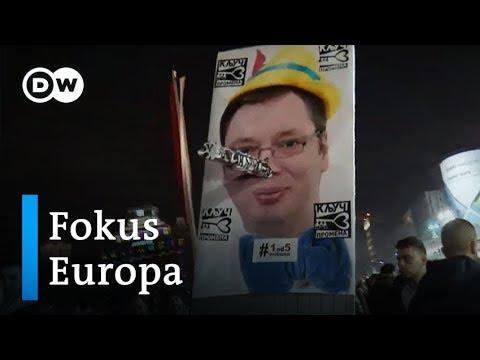 Serbien: Proteste gegen Präsident Vucic | Fokus Europ ...
