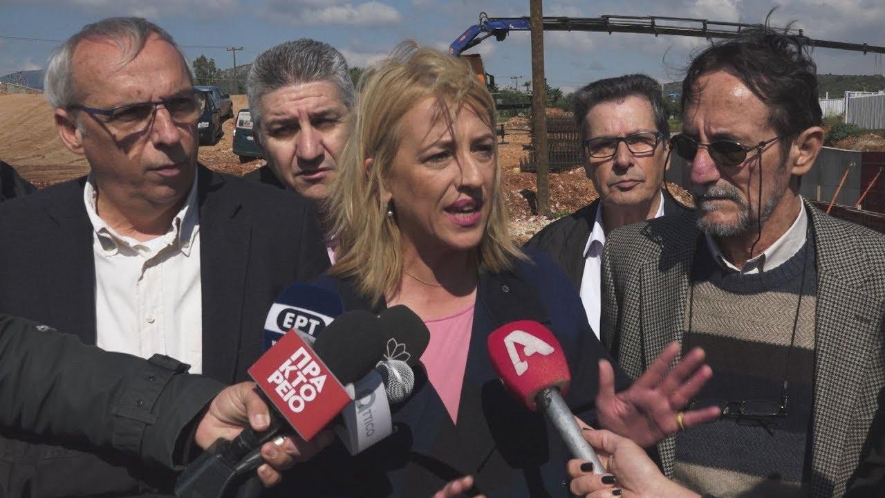 Η Ρένα Δούρου στα αντιπλημμυρικά έργα στην Μάνδρα Αττικής