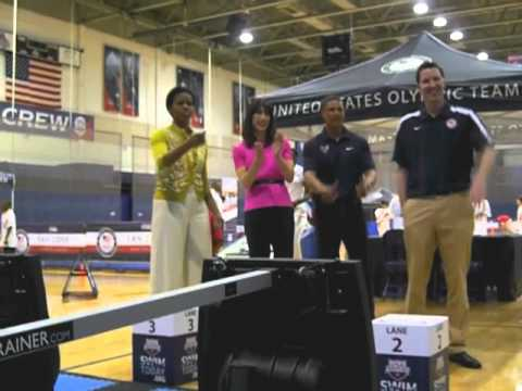 Vasa in First Lady Michelle Obama's 'Let's Move' mini-Olympics at a local school