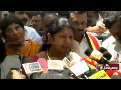 DMK-MP-Kanomozhi-addressing-reporters-queries-on-various-issue-at-Coimbatore