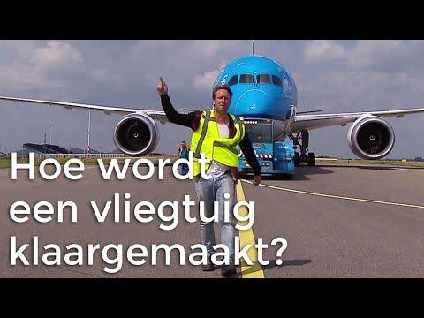 Hoe wordt een vliegtuig klaargemaakt voor vertrek?
