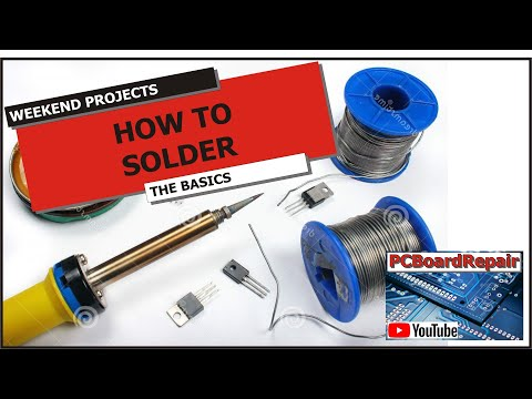 How to solder - Basic soldering techniques video. Soldering is easy to learn. Here's how to... Using: Yubright 0.7mm 60/40 Resin Core Solder (Lead free is also available) We...