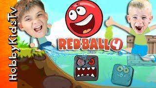 Video Real Life Red Ball Game + SKIT! iPad App Battle. Video Game Play HobbyKidsTV MP3, 3GP, MP4, WEBM, AVI, FLV Agustus 2017