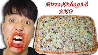 NTN -   Thử Thách Ăn Pizza Khổng Lồ Nặng 3 KG (Eating giant pizza challenge)