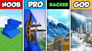NOOB vs PRO vs HACKER vs GOD : TSUNAMI CHALLENGE in Minecraft! (Animation)