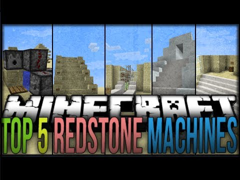 redstone - Top 5 Redstone Machines Minecraft 1.6 HOPE YOU GUYS ENJOY!!! Subscribe→ http://bit.ly/yW736D Can we get 750 Likes?!?!? Server IP: Coming Soon Twitter: https:...