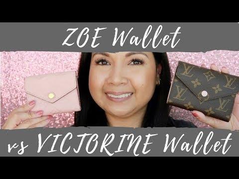 Louis Vuitton Zoe Wallet vs Victorine Wallet   Comparison   LalaLV