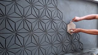 Ideas And Skills To Build Amazing 3D Murals From Cement Easily With Creative DIY Tools At Home
