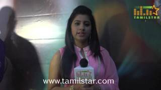 Dharshitha at Aroopam Movie Trailer Launch