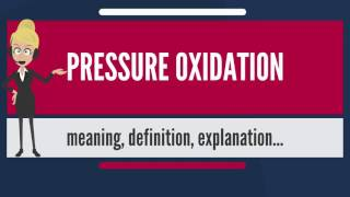 What is PRESSURE OXIDATION? What does PRESSURE OXIDATION mean? PRESSURE OXIDATION meaning